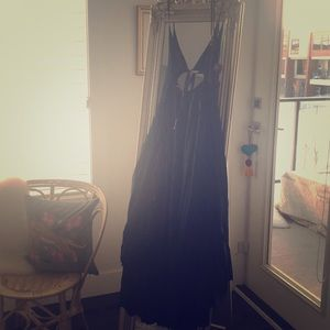 Free People green maxi dress